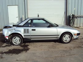 1985 TOYOTA MR2 2 DOOR COUPE 1.6L DOHC MT RWD COLOR SILVER STK Z12345