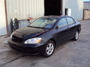 2007 TOYOTA COROLLA LE MODEL 4 DOOR SEDAN 1.8L AT FWD COLOR BLACK STK Z12350